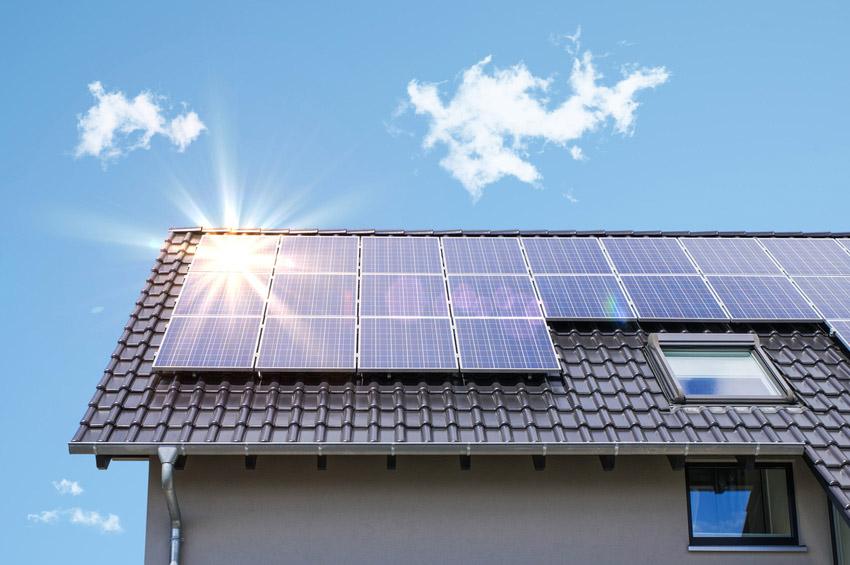domy prywatne - montaż paneli słonecznych